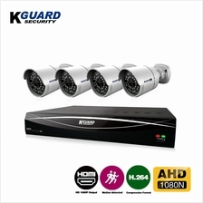 KGuard Security Hybrid Series Combo Set CCTV 4 Channel 4 Camera (HD481