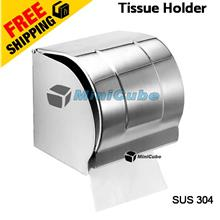 Toilet Tissue Box Container Holder Stainless Steel SUS 304 Wall Mount