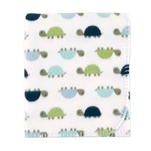 [From USA]Luvable Friends Printed Fleece Blanket Turtles (Turtles)