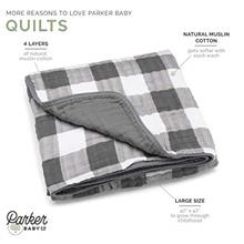 [From USA]Parker Baby Muslin Blanket - 100% Soft Cotton Baby Quilt and Kids Bl
