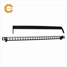 "Dintek 19"" 0.5U 24-Port Snap-In Blank Patch Panel with Rear Manager"