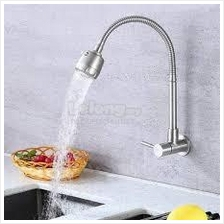 304 Stainless Steel Flexible Wall Kitchen Faucet Water Tap