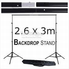 2.6*3m Backdrop Background Studio Shooting Stand Tripod Clip