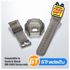 Custom Band  & Bezel Matte Smoke Black for Casio G-Shock DW-6900 Serie..