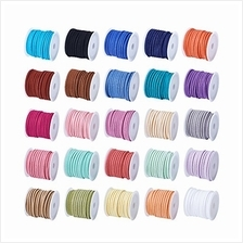[USA Shipping]Beadthoven 25Rolls 3mm Faux Suede Cord 5m/roll Mixed Color Beadi