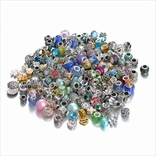 [USA Shipping]Assorted Silver Tone Charms Rhinestones Bead Charms Murano Glass