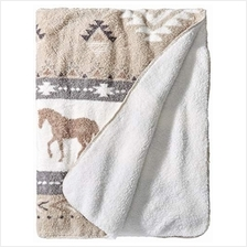 [From USA]PJ Salvage Women's Luxe Plush Blanket Champagne 1SZ
