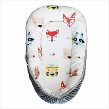 [From USA]Abreeze Red Fox Baby Lounger Baby Nest Portable Super Soft Organic C