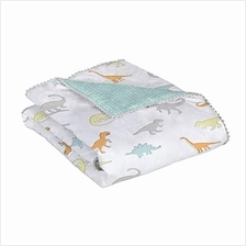 [From USA]Lolli by Lolli Living Baby Comforter in Dino Land Print. 100% Cotton