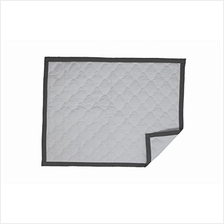 [From USA]Bacati - MixNMatch Morocan Tiles Quilted Crib Quilt/Play Mat (White/