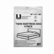 [From USA]uBoxes Twin Mattress Poly Covers 40 x 15 x 86 inch 4 Pack