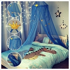[From USA]Cute Princess Canopy Round Dome Mosquito Net for Baby BedKids Play T