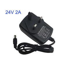 3pin Plug Power Supply Adapter 24V 2A DC Round 5.5x2.1mm