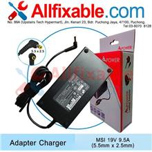 MSI 19V 9.5A GS60 6QE 2PL Ghost Pro GS70 2PC Stealth Adapter Charger