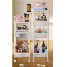 Multi Function Rolling Basket Cart Storage for Kitchen Home Bathroom