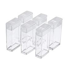[USA Shipping]Craftdady 6Pcs Transparent Plastic Bead Storage Containers Recta