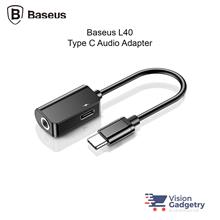Baseus L40 2 in 1 Type C to Type C 3.5mm Audio Jack Adapter Converter