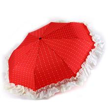 Red Lolita Umbrella (100cm Victorian style with large frills Wedding)