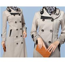 Turkish Long Coat—Trench Double Breasted Jubah Muslimah. Costume Dress