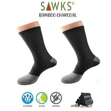 Men's Bamboo Charcoal Double Cylinder Quarter Crew Socks