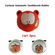 Cartoon Automatic Toothbrush Holder (1set 3pcs)