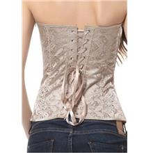 Satin Ruffle Bra Top and Brocade Corset