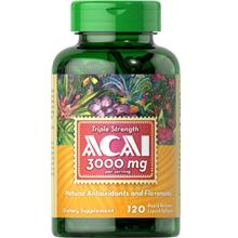 [From USA] Puritans Pride Triple Strength Acai 3000 Mg 120 Count.