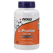 [From USA] NOW Supplements L-Proline 500 mg 120 Veg Capsules.
