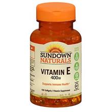 [From USA] Sundown Vitamin E 400 IU Softgels DL-Alpha 100 Soft Gels (Pack of 2