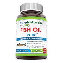 [From USA] Pure Naturals Fish Oil 1000 mg Soft Gels 400 Count.