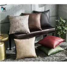 American Retro Square Leather Sofa Cushion