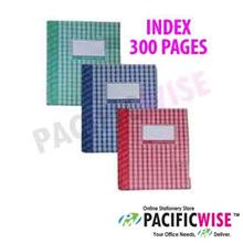 Hard Cover Book Quarto Book F5 Index (300 Pages)