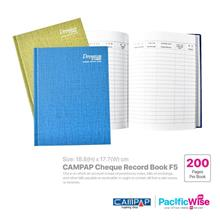 CAMPAP Cheque Record Book F5 (200 Pages)