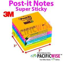 3M Brand Post-it Notes (Super Sticky) - 5 Colour (3' x 3')