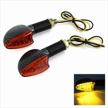 2PCS MOTORCYCLE MOTORBIKE 12V 15 LEDS TURN SIGNAL LIGHT CORNERING LAMP BLINKER