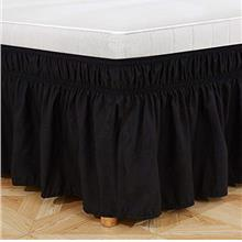 [From USA]WanKou Elastic Bed Hem of Wrapped Bed Skirt Easy to fit Wrinkle and