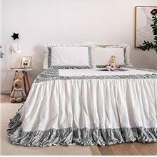 [From USA]Softta Queen Size Bed Skirt 3Pcs Bedding Set Bohemia Chic Patchwork