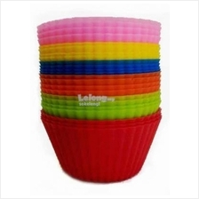 Rainbow Silicone Round Muffin Cup 24 in 1