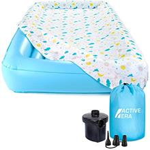 [From USA]Active Era Kids Air Mattress - Portable Inflatable Travel Air Bed wi