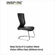 Ideas Series P.U Leather Mesh Visitor Office Chair (Without Arm)