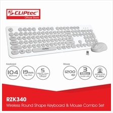 CLiPtec YOUNG AIR Wireless Keyboard and Mouse Combo Set RZK340)