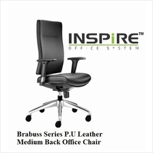 Brabuss Series P.U Leather Medium Back Office Chair