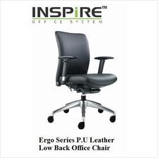 Ergo Series P.U Leather Low Back Office Chair