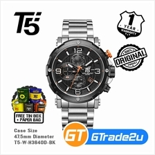 T5 Mens Chronograph Watch H3640 Stainless Steel Band Luxury Black