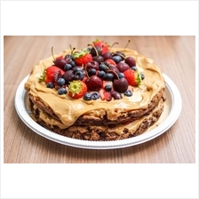 Butter Cookie Cake Toppings with Fruits (DON'T BUY TESTING ONLY)