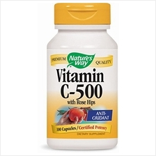[From USA] Nature's Way Vitamin C-500 with Rose Hips; 1000 mg per Serving; 100