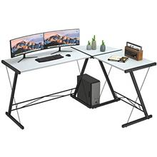 [From USA]L Shaped Desk Home Office Desk with Round Corner.Coleshome Computer