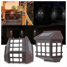2Pcs IP65 Water Resistant Outdoor Solar Powered Night Light Induction Sensor L