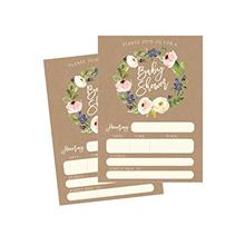 [Good Choice]50 Fill in Kraft Baby Shower Invitations Baby Shower Invitations