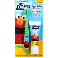 [USA]Orajel Elmo Fluoride-Free Tooth  & Gum Cleanser 1.0 oz. with